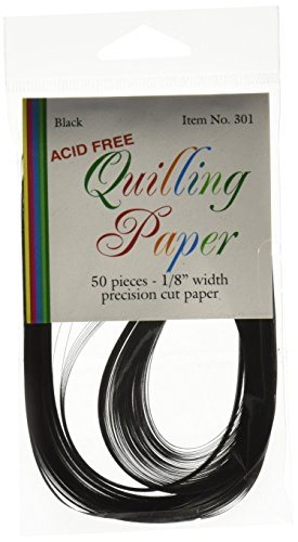 LAKE CITY CRAFT 1/8-Inch Quilling Paper, Black