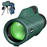 Monocular Telescope SHRATE High Power Compact HD Monoculars for Adults Kids Waterproof Monocular Scope BAK4 Prism with Smartphone Holder & Tripod for Bird Watching Hunting Traveling Concert Sports