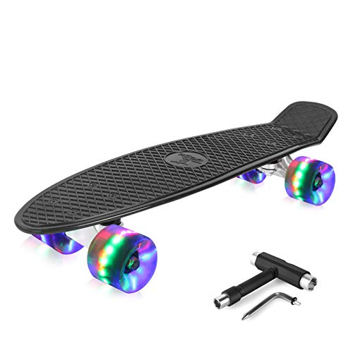 Product Image of the Beleev Skateboard 22 inch Complete Mini Cruiser Skateboard for Kids Teens...