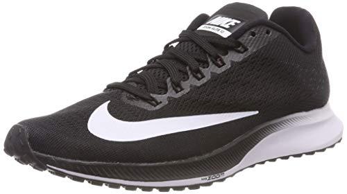 Nike Women's Air Zoom Elite 10 Black/White Volt Ankle-High Mesh Running Shoe - 6M