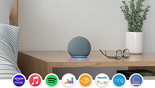 Nuovo Echo Dot (4ª generazione) - Ceruleo + Amazon Smart Plug (presa intelligente con connettività Wi-Fi), compatibile con Alexa
