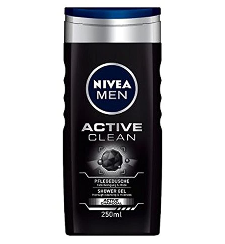 遷移円形典型的なNIVEA MEN Active Clean Shower Gel 250ml - ニベアの男性アクティブクリーンシャワージェル250ミリリットル (Nivea) [並行輸入品]