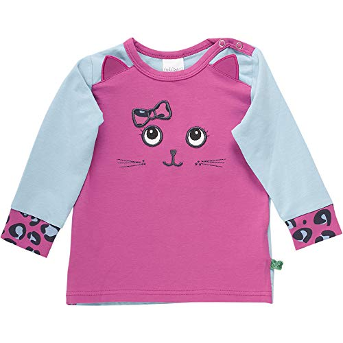 Fred'S World By Green Cotton Animal Front T T-Shirt, (Violet 018302708), 74 Bébé Fille