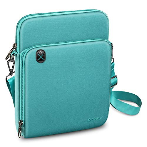 FINTIE 11 Inch Tablet Sleeve Case, Briefcase Shoulder Bag for 10.9' iPad Air 4 2020, 10.2' iPad 2020/2019, 11' iPad Pro 2020/2018, 10.5' iPad Air 3 2019, Surface Go 2, Galaxy Tab, Aqua Green