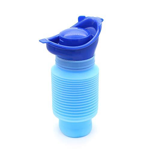 Yuhtech Urinario de Emergencia, Portátil Reutilizable retráctil Orinal Urinario Portátil para Hombres Unisex Mujeres niños 🔥