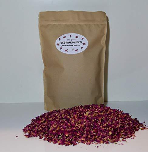 Die Gudn Blütenkonfetti (200 Gramm mit rd. 2,4 Liter Volumen, 100% biologisch abbaubar aus getrockneten Blütenblättern der Rose)