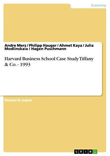 Harvard Business School Case Study Tiffany & Co. - 1993 (English Edition)