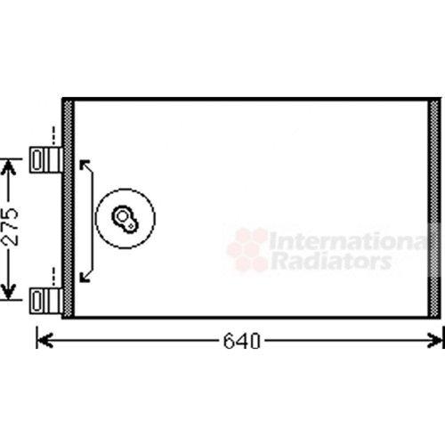 VAN WEZEL 43005444 Kondensator, Klimaanlage