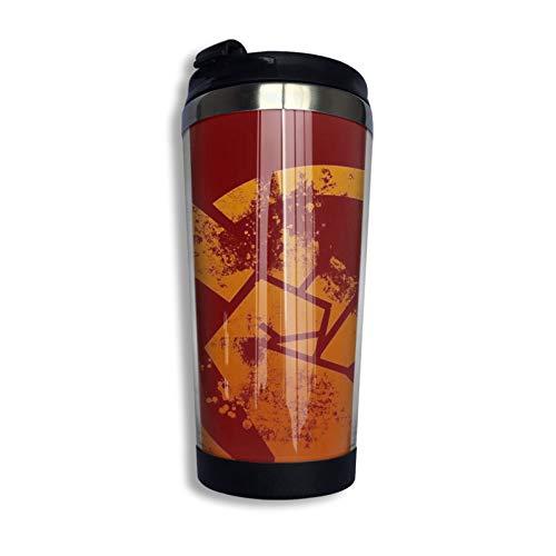 Yaxinduobao Red Faction Guerrilla Taza de viaje Taza de café Vaso aislado al vacío de acero inoxidable 13.5 oz