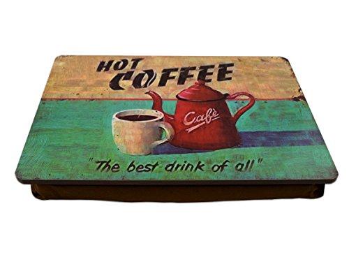 Knietablett Hot Coffee mit Kissen P-893
