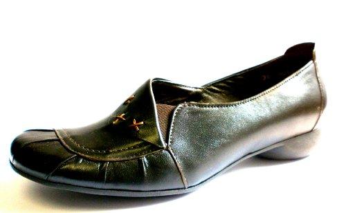 Manitu Damen-Sandale 840168-2, schwarz, Leder + Lederfutter, Sale * (37)