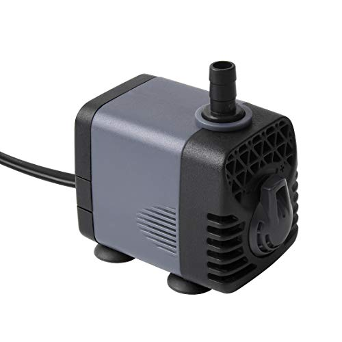 Ankway Upgraded 160GPH(600L/H, 10W) Submersible Water Pump Humanized Rotation Switch with 2 Nozzles for Pond, Aquarium, Fish Tank Fountain Water Pump Hydroponics, with 5.9ft (1.8M) Power Cord
