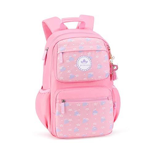 SHINY X-LOVE Rucksack for Mädchen Schultasche, Kinder Rucksäcke for 1-6 Klässler Rucksack for Kinder Teens Gelegenheits Daypacks Reisetasche (Color : Pink)