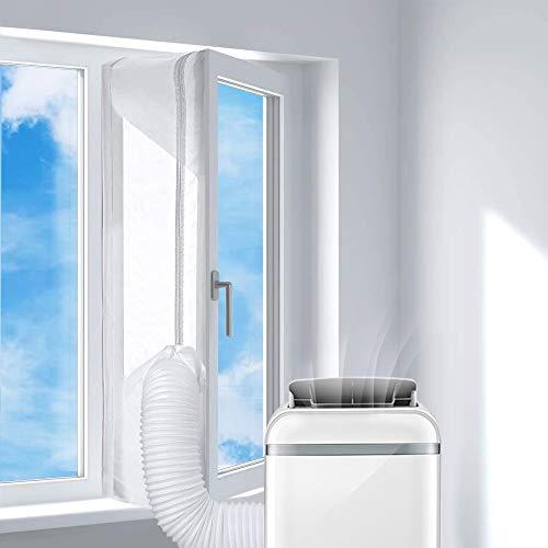 Pulchram 400CM Fensterabdichtung für Mobile Klimageräte und Ablufttrockner,Klima Fensterabdichtun zum Anbringen an Fenster,Dachfenster,Flügelfenster
