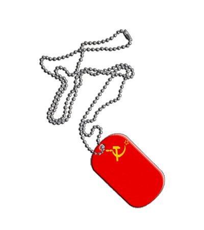 Dog Tag / Erkennungsmarke / Kette UDSSR Sowjetunion - 3 x 5 cm