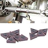 Weikeya Genauer CNC-Einsatz, Hartmetalleinsatz 0,4 cm / 0,2 Zoll 1,5 cm TCMT16T308 LF6018 aus Karbid