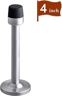 Deurstop, Lange Deurstop met Mute Rubber Tip, 4 Inch Geborsteld Satijn Nikkel Moderne Chroom Veiligheid Grote RVS Deurstop...