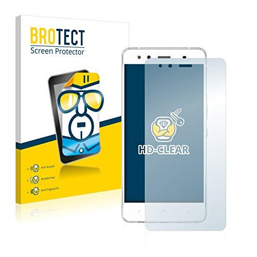 BROTECT Schutzfolie kompatibel mit BQ Aquaris X5 (2 Stück) klare Bildschirmschutz-Folie