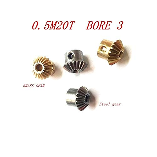Zyj stores Zahnrad 2ST 1: 1 Kegelrad 0,5 Modulus 20 Zähne Mit Innenbohrung 3 0.5m20T 90 Grad Antrieb Commutation Stahl Gears Screw Antriebsrad (Größe : 0.5m20t Brass Gear)