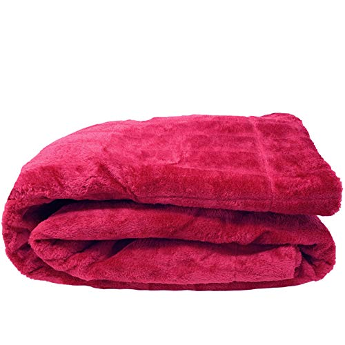 JEMIDI Nerzfelloptik Decke - Nerzdecke Felldecke Wohn Sofaüberwurf Felloptoptik - XL Nerz 150x200cm ERHÄLTLICH IN 8 Farben! Dicke QUALITÄT (Fuchsia)
