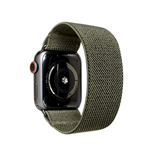 Tefeca Elastic Compatible/Replacement Band for Apple Watch (Army Green, S fits Wrist Size : 6.0-6.5 inch, 38/40mm)