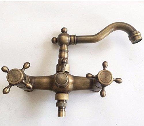 Tap LighSCH Antichi kranen voor badkamermeubels, warm en koud gemonteerd met dubbele rotatie