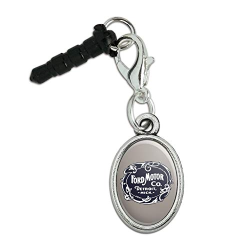 GRAPHICS & MORE Ford Motor Company Vintage Logo Mobile Cell Phone Headphone Jack Oval Charm fits iPhone iPod Galaxy