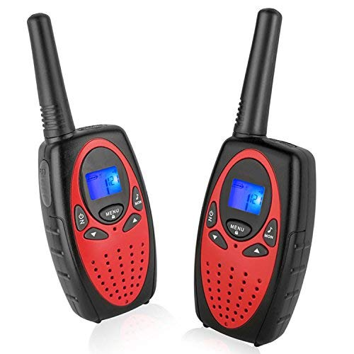 Walkie Talkies Long Range, Topsung M880 FRS Two Way Radio for Adults with Mic LCD Screen/Durable Wakie-Talkies with Noise Cancelling for Men Women Outdoor Adventures Cruise Ship (Rose Red 2 in 1)