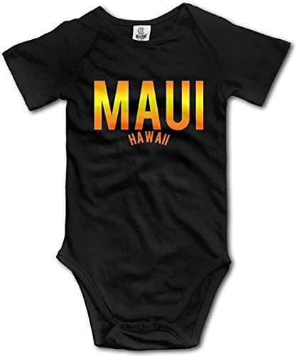 WlQshop Unisex-Baby Kurzarm Body, Maui Hawaii Newborn Baby Bodysuit Short Sleeve Gentleman Bodysuit
