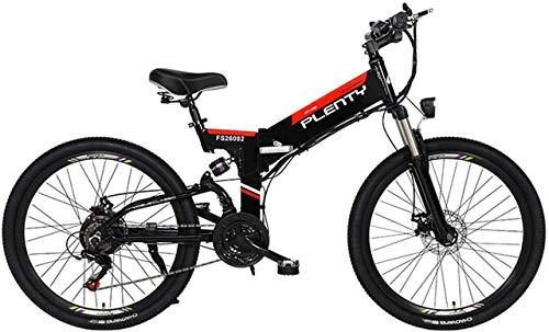 Bicicleta, Bicicleta de montaña eléctrica, Bicicleta híbrida de 24'/ 26' / (48v12.8AH) 21 Files Speed 5 FILS Sistema DE Poder, Frenos DE Disco MECÁNICOS DE E-E-Doble, Pantalla LCD de Pantalla Grande