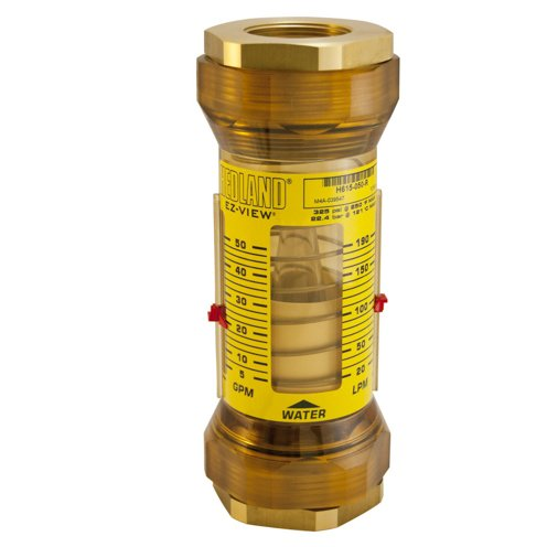Hedland Flow Meters (Badger Meter Inc) H615-050-R - Flow Rate Hydraulic Flow Meter - 50 gpm Max Flow Rate, 1-1/2 NPTF in Port Size