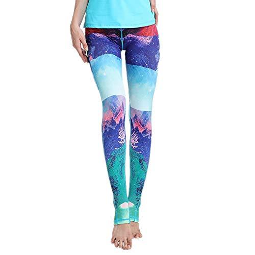 NIGHTMARE Leggings de Gimnasia de Cintura Alta de Camuflaje para Mujer Pantalones de Yoga elásticos para Correr Leggings de Entrenamiento para Correr Leggings de Yoga cómodos XL