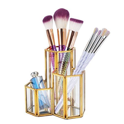 Brochas Maquillaje Doradas marca Zodaca
