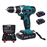 Flybiz 21V 1650/min Professional Industrial Rechargeable Cordless Drill Driver with 2pcs 1500mAh Li-ion