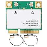 Tarjeta WiFi PCIe 2.4G / 5G para PC con Bluetooth 5.1 Tarjeta de Red inalámbrica Gigabit Dual Band 8260HMW 802.11AC Mini PCI-E BT4.2 + 2 Antena