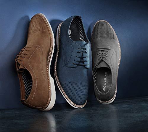 Mio Marino Mens Oxford Casual Dress Shoe – Gray – US-10.5D(M) | UK-43-44 | EU-10