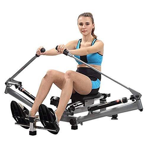 Big Shark Professionelles Rudergerät Air Rower Widerstand einstellbar, Folding Rudergerät Mädchen Bauch Körper Bewegung, Stumm Paddle-Maschine Fitnessgeräte, 1: 1 Paddel-Typ