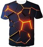 Loveternal Unisex 3D Patrón Impreso Camisetas Verano Casual Manga Corta T-Shirt