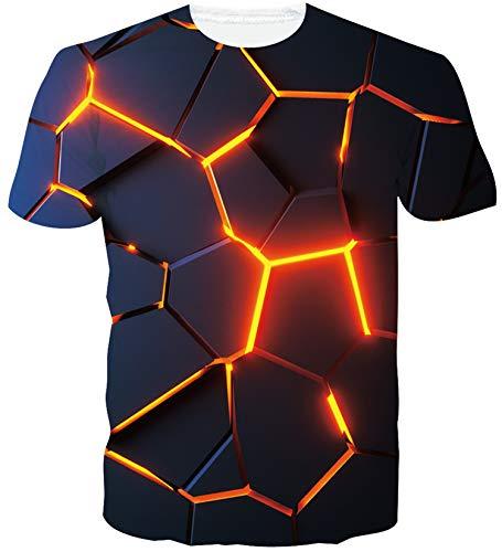 Loveternal T-shirt unisexe à manches courtes Imprimé avec motif 3D Style décontracté - - XXL