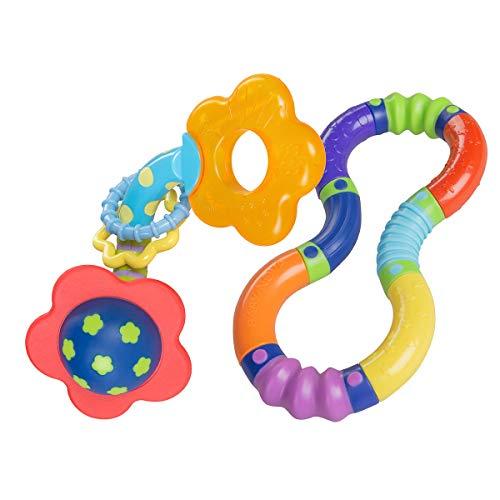 Baby-Nova Lernspielzeug Set - 2er Set - Baby und Kinder Spiel Beißring - bewegliches Motorik-Spielzeug ab 6 Monaten - Kühlbeißring - Greifling - Zahnungshilfe - BPA frei - bunt