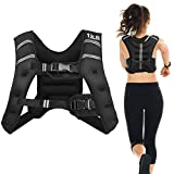 Goplus Weighted Vest, 12 lb/20lb Weight Vest Workout Equipment, for Men Women Kids, with Adjustable Buckles & Mesh Bag for Fitness Running