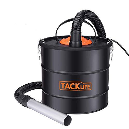 Ash Vacuum, TACKLIFE 800W Ash Vacuum Cleaner Ash VAC Canister 5 Gallon Capacity Bagless Debris/Dust/Ash Collector, Suitable for Fire, Log Burners, Pellet Stoves-PVC03A