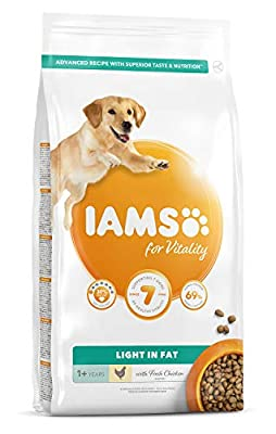 Iams adult dog weight control low fat dry food (with chicken, for adult dogs for weight control, contains a lot of high quality animal protein)