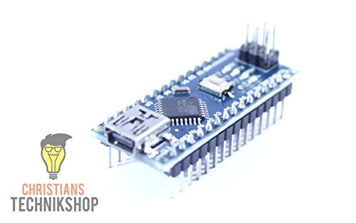 Nano V3 verlötet | Entwicklerboard für Arduino IDE | ATMEL ATmega328P AVR Mikrocontroller | CH340-Chip | Christians Technikshop