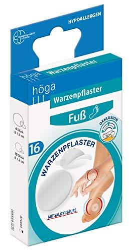 WARZENPFLASTER 4 Stück durchmesser 1,9 cm, 12 Stück, durchmesser 1,2 cm, 10 g
