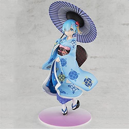 ioth Vida de Dibujos Animados en un Mundo Diferente Desde Cero Adornos de ram PVC Decoración de Coches Doll Doll 22 cm