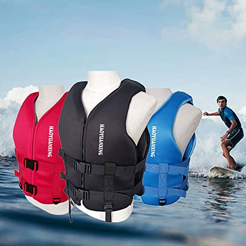 MINGJ Chalecos Salvavidas para Adultos Y Niños Chaleco De Alta Flotabilidad Flotador Rescate Chaleco Salvavidas para Natación, Paddle Surf, Pesca, Surf, Buceo, Rafting,Red-L