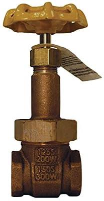 "Dixon 1"" Domestic Brass Gate Valve Mallable Iron Hand Wheel (DBGV100) by Dixon Valve & Coupling"