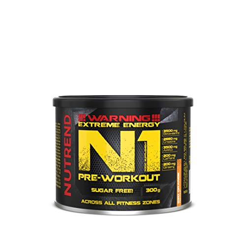 Nutrend N1 300g Orange Flavour Body Stimulant Than The Instant Form of pre-Workout Promote Muscle Pumping Beta-Alanine, AAKG Taurine DMAE