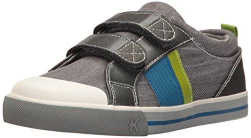See Kai Run Boy's Russell Sneaker, Gray Denim, 2 M US Little Kid